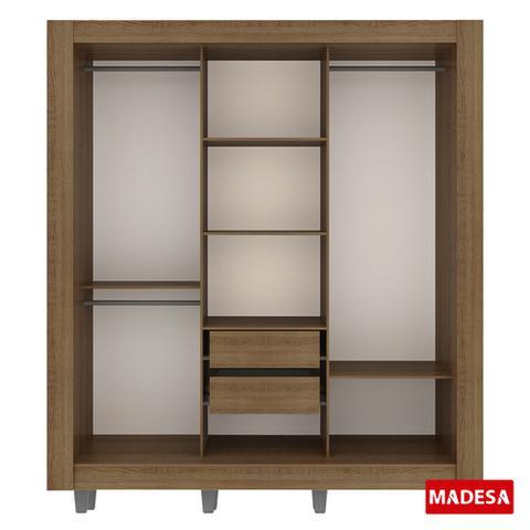 Imagem de Guarda-Roupa Casal Madesa Style 3 Portas de Correr Central com Espelho