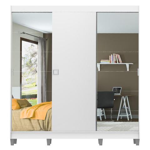Imagem de Guarda-Roupa Casal Madesa Veneza 3 Portas de Correr 2 Portas com Espelho com Pés