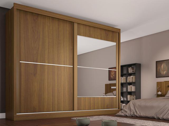 Imagem de Guarda-roupa Casal MDF 2 Portas 4 Gavetas