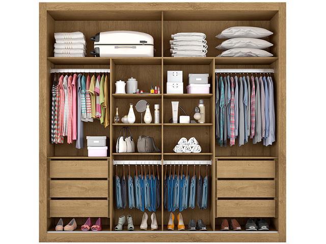 Imagem de Guarda-roupa Casal MDF 2 Portas de Correr