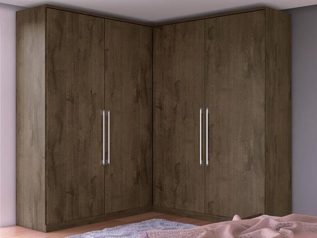 Imagem de Guarda-roupa Casal MDF 4 Portas 4 Gavetas
