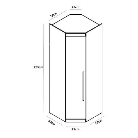 Imagem de Guarda Roupa Casal Modulado Canto 4 Portas França Espresso Móveis Cedro