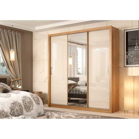 Imagem de Guarda Roupa Casal Residence 3 Portas de Correr 2 Gavetas Demóbile