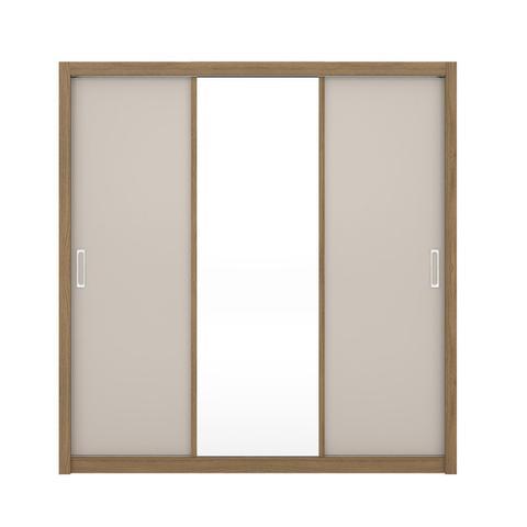 Imagem de Guarda Roupa Casal Residence Demóbile 3 Portas e Espelho Amêndola/Grafito