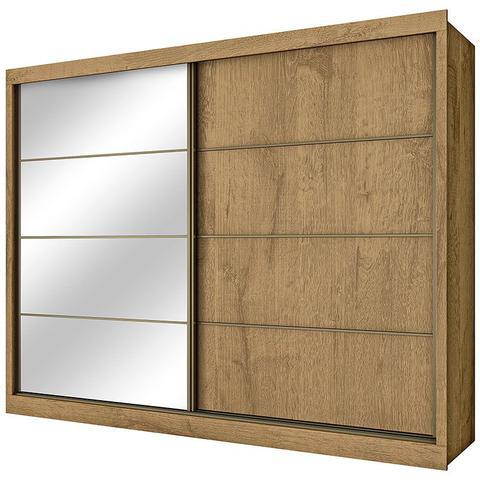 Imagem de Guarda-Roupa Casal Sevilha Espelhado 2 Portas e 6 Gavetas  Made Marcs