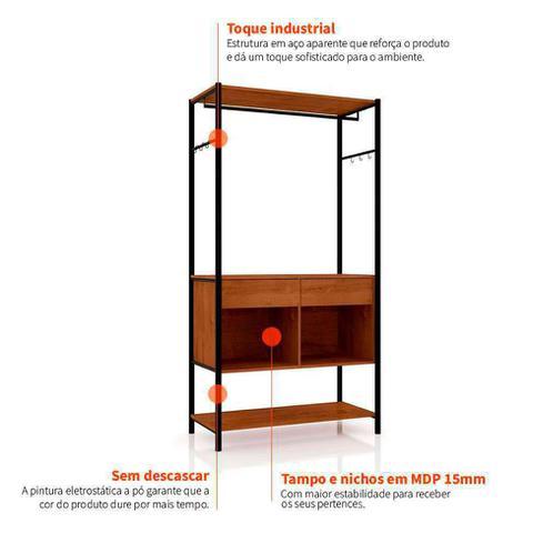 Imagem de Guarda Roupa Closet Modulado Paris 902 Preto