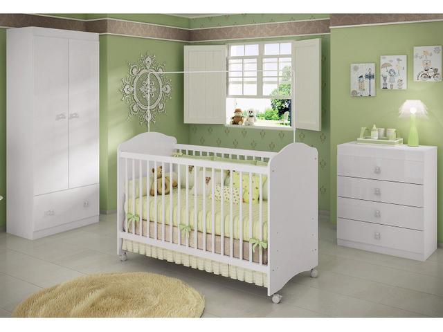 Imagem de Guarda-Roupa de Bebê 2 Portas 1 Gaveta