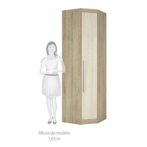 Imagem de Guarda Roupa de Canto Casal 4 Portas 1 Gaveta com Cabeceira 166cm e Cômoda Sapateira Luciane Móveis