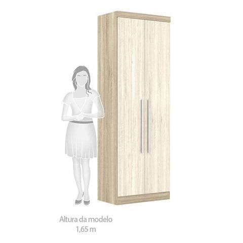 Imagem de Guarda Roupa de Canto Casal 8 Portas Cabideiro Calceiro com Cabeceira Queen Master Luciane Móveis
