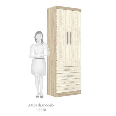 Imagem de Guarda Roupa de Canto Casal 9 Portas Espelho Escrivaninha Nicho e Cabeceira Master Luciane Móveis