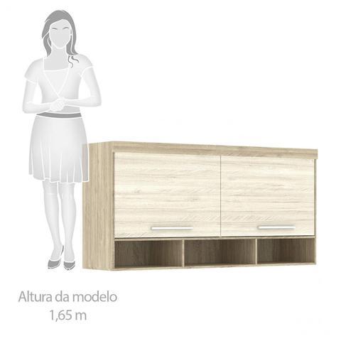 Imagem de Guarda Roupa de Canto Casal com Cabeceira Queen Siena Móveis Avelã Rústico/Ártico Rústico