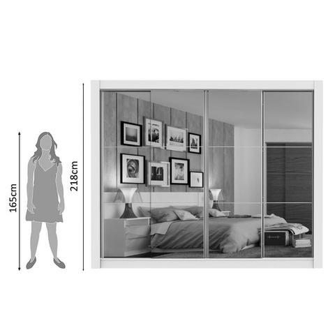 Imagem de Guarda-Roupa Madesa Montana 4 Portas de Correr de Espelho