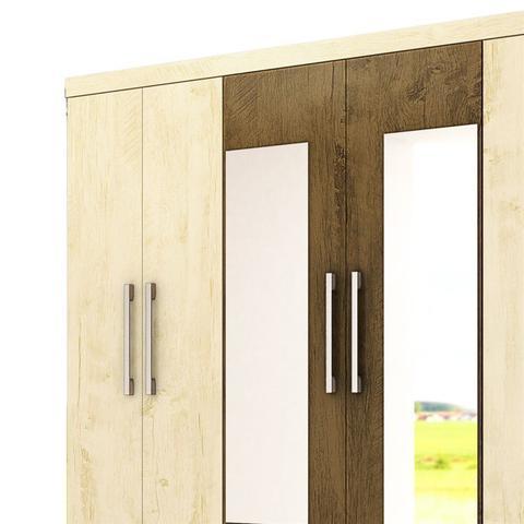 Imagem de Guarda Roupa Porto C/ 2 Portas Espelhadas Avelã Wood/Castanho Wood