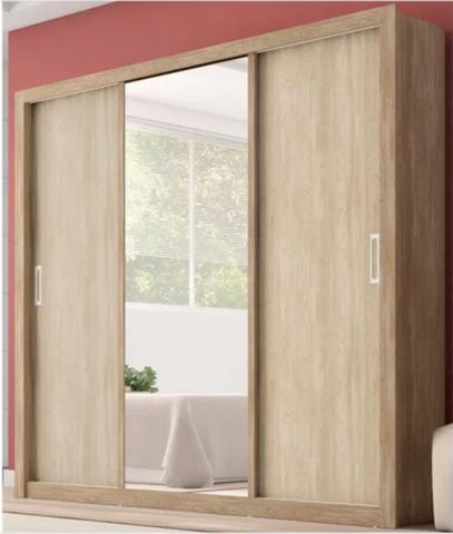 Imagem de Guarda Roupa Residence e Cômoda Triunfo Nogal Vanilla Touch Demóbile