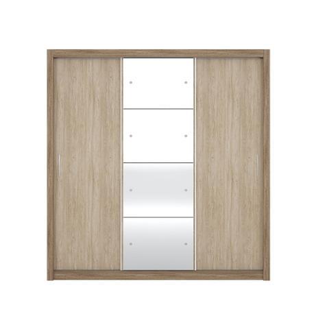 Imagem de Guarda roupa residence ii 3 portas nogal vanilla - demobile