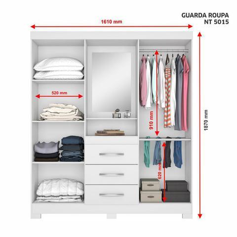Imagem de Guarda Roupa Solteiro 4 Portas 3 Gavetas NT5015 Notável Móveis