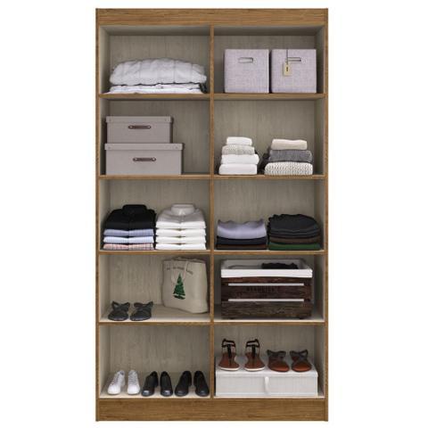Imagem de Guarda-roupa Solteiro 4 Portas Lyon 8 Prateleiras 40466 Off/white - Pnr Móveis