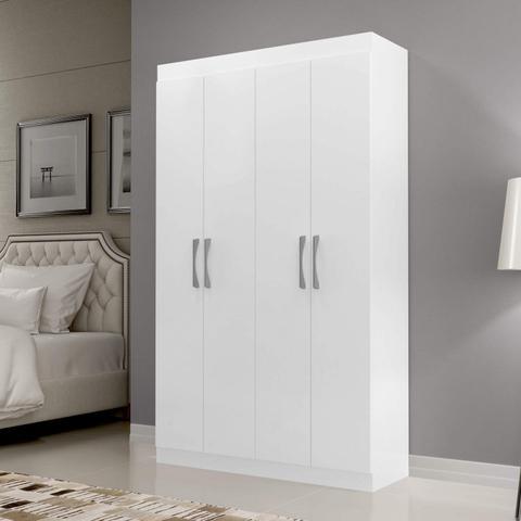 Imagem de Guarda Roupa Solteiro 4 Portas Siena Móveis Branco