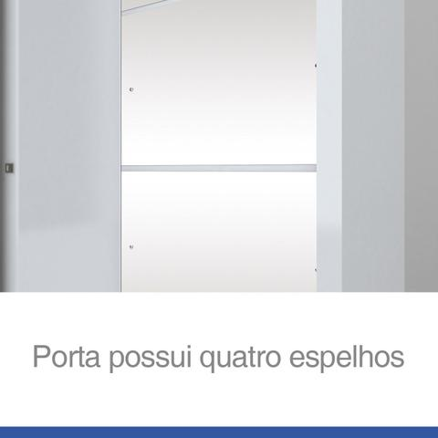 Imagem de Guarda Roupa Solteiro com Espelho 2 Portas de Correr Alegro Henn Branco