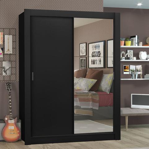 Imagem de Guarda-Roupa Solteiro Madesa Denver 2 Portas de Correr com Espelho