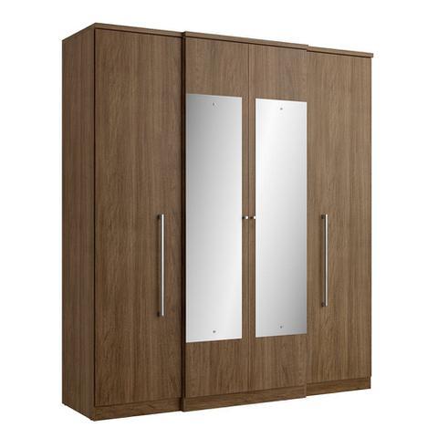 Imagem de Guarda Roupa Splendore 4 Portas Glass com Espelho THB