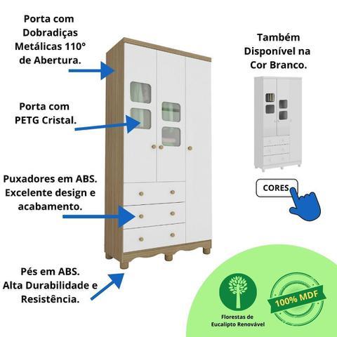 Imagem de Guarda Roupa Uli 3 Portas - Móveis Peroba
