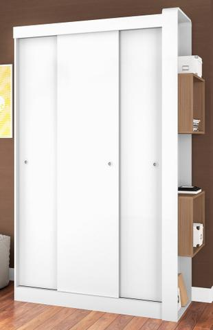 Imagem de Guarda-Roupas com 3 Portas de Correr sem Espelho Doce Cheiro Montana - Art In Móveis