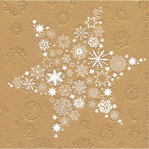 Imagem de Guardanapo de Papel Macio Estampa de Natal Estrela Dourada