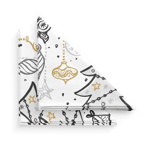 Imagem de Guardanapo de Tecido Árvore de Natal
