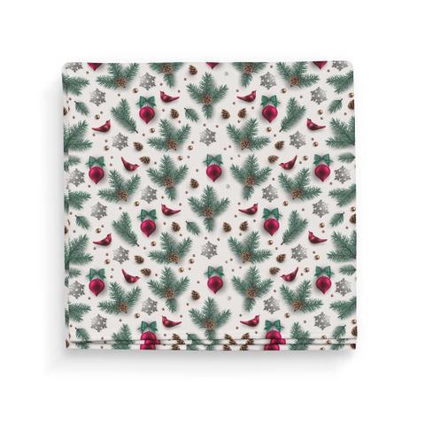 Imagem de Guardanapo de Tecido Flores Natal