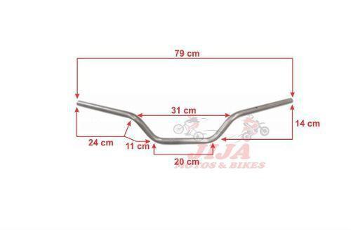 Imagem de Guidao Crosser Xtz 150 Modelo Original Chapam Prata 4728