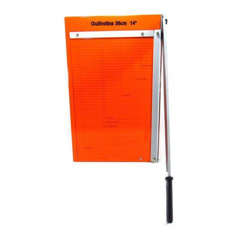 Imagem de Guilhotina de papel manual Ofício 36cm em aço para 20 Folhas
