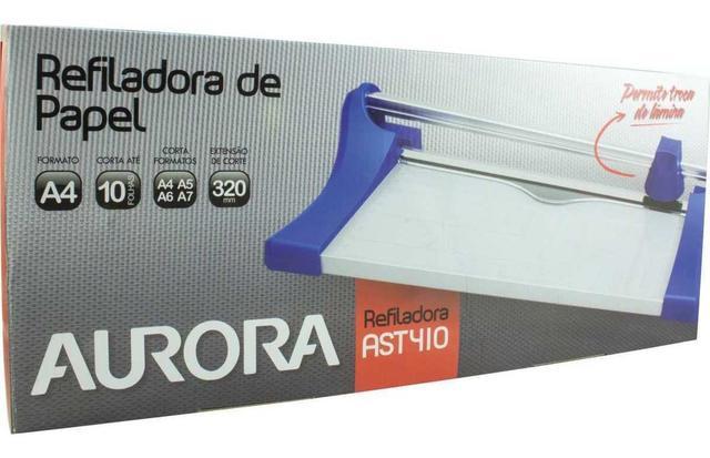 Imagem de Guilhotina Refiladora Papel Profissional A4 Aurora - Ast 410