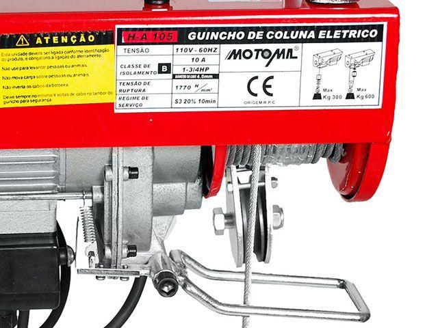 Imagem de Guincho de Coluna 600Kg Motomil 1000W