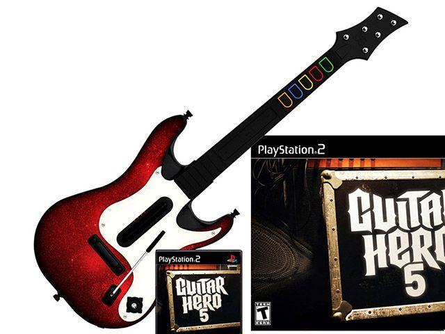 Imagem de Guitar Hero: 5 com Guitarra para PS2