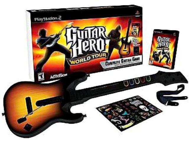 Imagem de Guitar Hero: World Tour com Guitarra para PS2