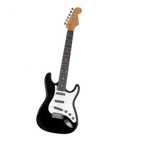 Imagem de Guitarra Eletrônica Infantil Brinquedo Rock Star - Preta