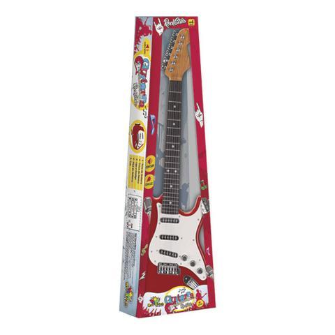 Imagem de Guitarra Eletrônica Infantil Brinquedo Rock Star - Vermelha