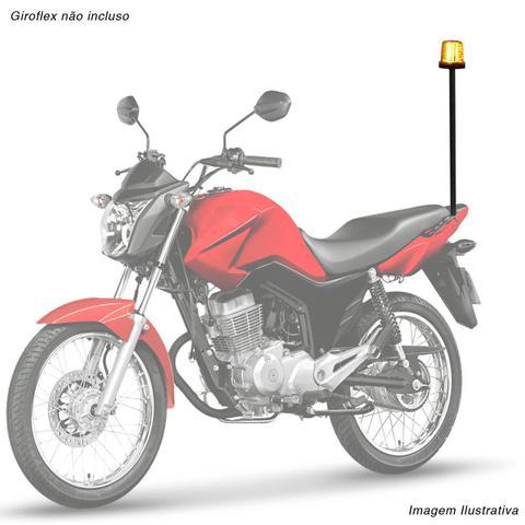 Imagem de Haste de Ferro para Moto Giroflex Giroled Universal Preta Aço Tubular Fixação
