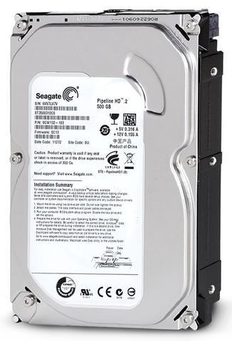 Imagem de HD 500 GB SATA 3Gb/s - 5900RPM - 8MB Cache - Seagate Pipeline - ST3500312CS