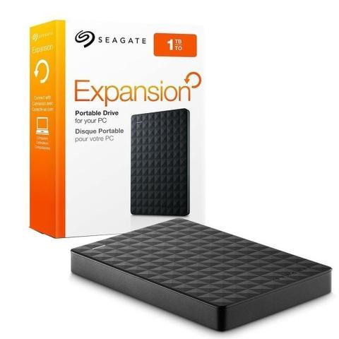 Imagem de HD Externo Portátil Seagate Expansion 1TB USB 3.0  Premium