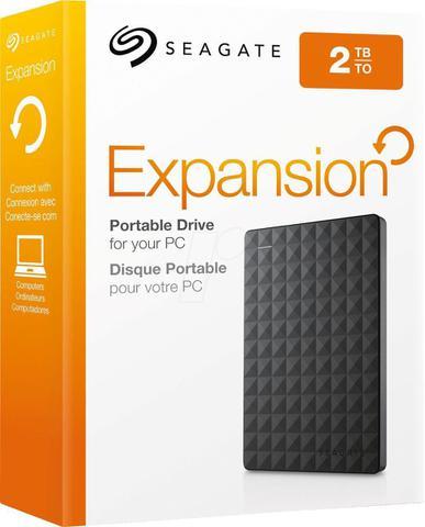 Imagem de HD Externo Portátil Seagate Expansion 2TB USB 3.0 Preto