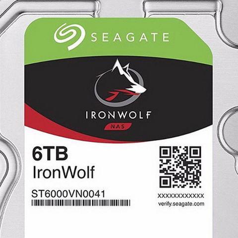 Imagem de HD Interno Seagate NAS IronWolf 6TB SATA 128MB 3.5 7200RPM (ST6000VN0041)