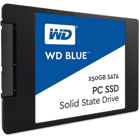 Imagem de HD SSD 250GB WD Blue Sata 3 Leituras 545mb/s Gravações 525 MB/s  WDS250G1B0A-00H9H0