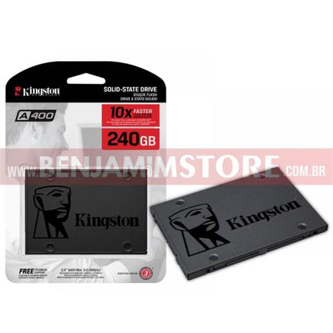 Imagem de HD SSD Kingston 240gb Ssdnow A400 Sata 3 6gb/s 500mb/s + Nfe