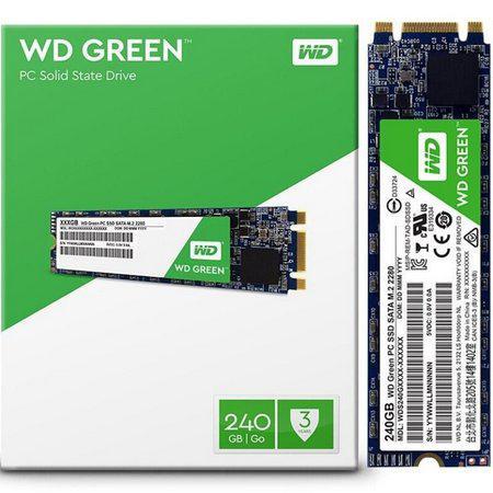 Imagem de HD SSD M2 240GB 2280 545MB/s Sata3 WD Green - WDS240G2G0B