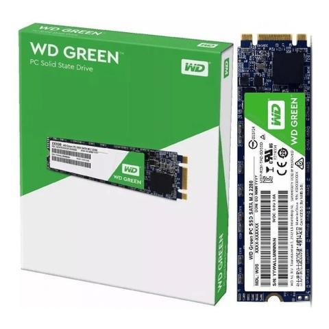 Imagem de HD SSD M2 480GB Sata 3 WD Green - WDS480G2G0B
