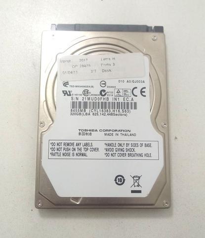 Imagem de Hd Toshiba 320gb Mk3265gsx