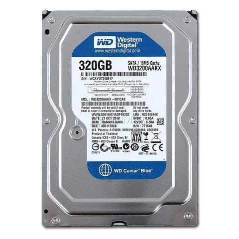Imagem de HD WD 320GB Sata II 3.0gb/s 8mb Cache 7.200rpm 3.5