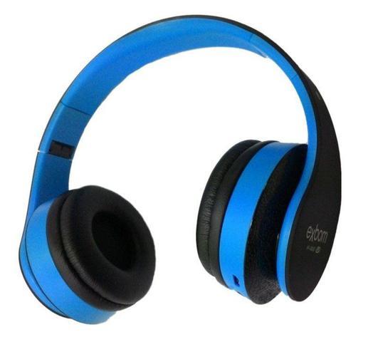 Fone de Ouvido Headphone Bluetooth Azul Exbom Hf400bt